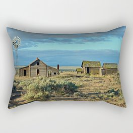 Homestead, Along The Oregon Trail Rectangular Pillow