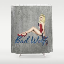 Blonde in a Union Jack...A specific one Shower Curtain