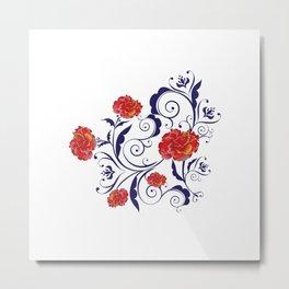 Abstract Rainbow Roses Metal Print
