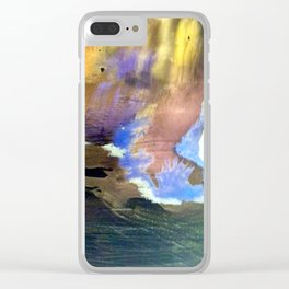 Oase Abstrakt Watercolor Digital 2 Clear iPhone Case