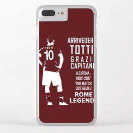 Arrivederci Totti Clear iPhone Case