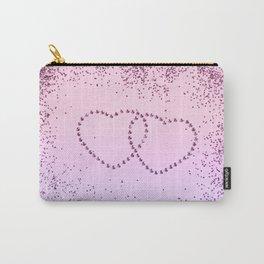 Unicorn Girls Glitter Hearts #1 #shiny #pastel #decor #art #society6 Carry-All Pouch