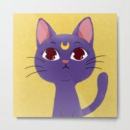 Cat Lover Luna Sailor Moon Metal Print
