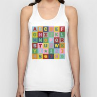 alphabet Tank Tops featuring Alphabet by Project M