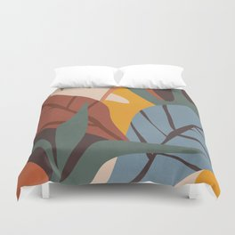 Abstract Art Jungle Duvet Cover