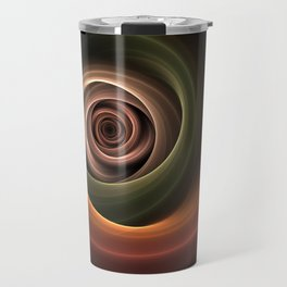 Fractal Depth And Warmth Travel Mug