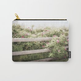 Fence Draped in Rosa Rugosa Carry-All Pouch