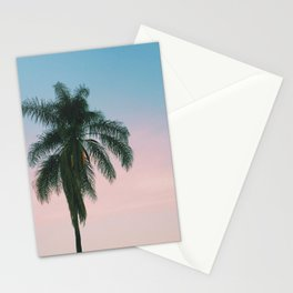 Pastel Sky Palm Tree - Los Angeles, California Stationery Cards