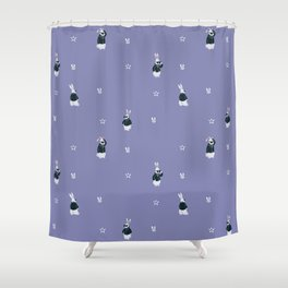 Tough Bunny pattern Shower Curtain