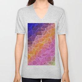 crystalized rainbow Unisex V-Neck