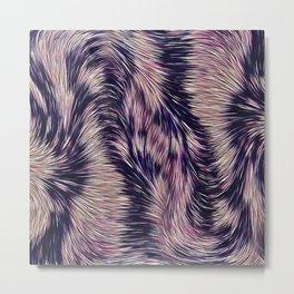 Warm fur texture Metal Print
