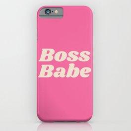 Retro Boss Babe - Pink iPhone Case