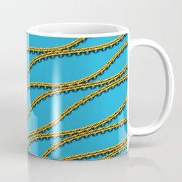 Wave Gold Chain Blue Coffee Mug