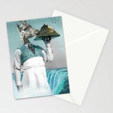 giraffe waiter with bombe alaska Stationery Cards