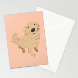 Golden Retriever Love Dog Illustrated Print Stationery Cards