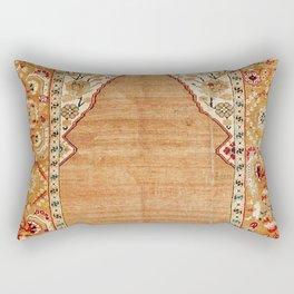 Transylvanian West Anatolian Niche Carpet Print Rectangular Pillow