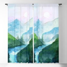 Mountain River Blackout Curtain