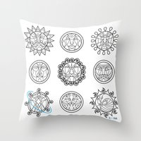 astrology Throw Pillows featuring Astrology 3 by Karthik