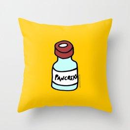 Diabetes: Diabetic Vial Pancreas Throw Pillow