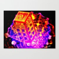 dr who Canvas Prints featuring Dr Who? by ADJoy