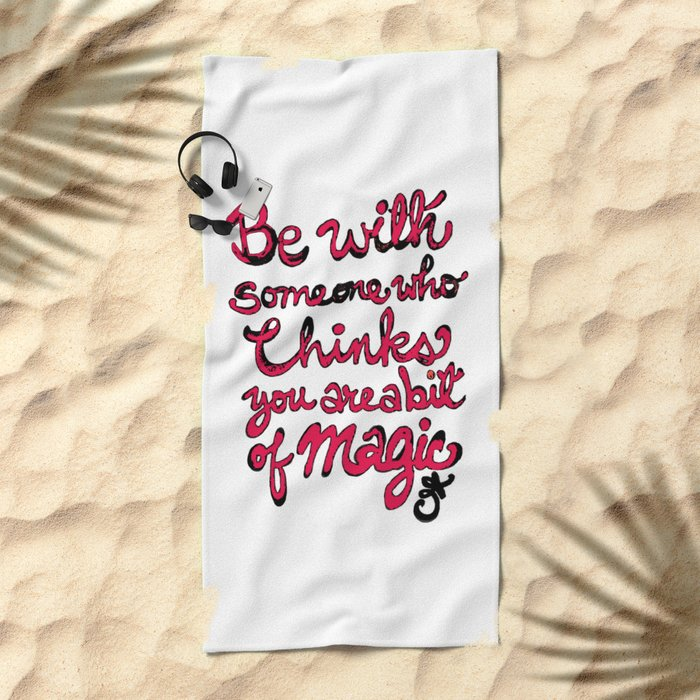 Be With Someone Hearty! Be With Someone's Heart Beach Towel