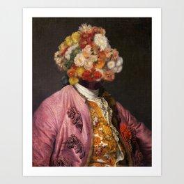 Flower Head Portrait I Art Print