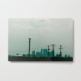 Minneapolis - Blur Metal Print