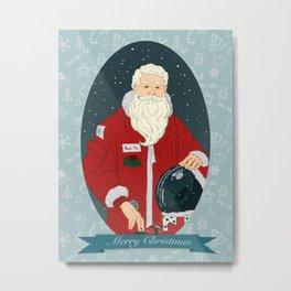 Santa Astronaut Metal Print