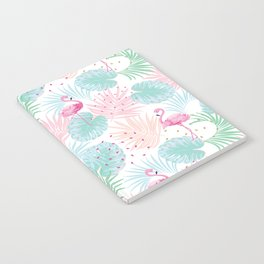 Tropical pattern with lovely flamingos Notebook