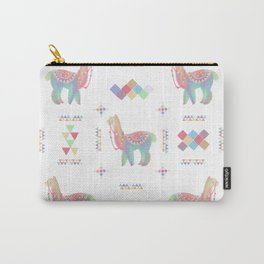Colorful Alpaca Carry-All Pouch