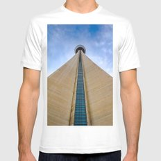 CN Tower up close White Mens Fitted Tee MEDIUM