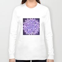 chakra Long Sleeve T-shirts featuring Crown Chakra by CalaNooka