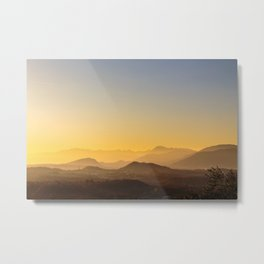 colorful autumn sunset in the italian countryside Metal Print