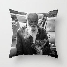 Carnation Flower Man Throw Pillow