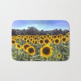 Sunflower Fields Of Summer Bath Mat