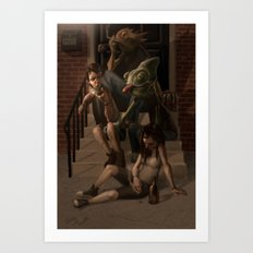 Stoop Kids Art Print