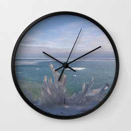 Cave Point Icicle Tree Wall Clock