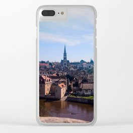 View of a french village Clear iPhone Case
