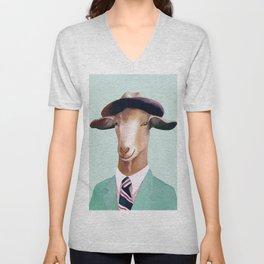 Minty Goat Unisex V-Neck
