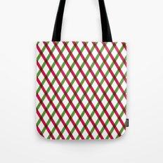 Holiday Ribbon Pattern Tote Bag