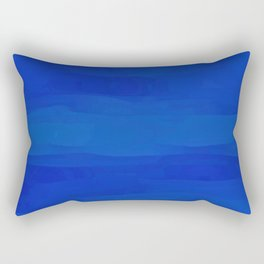 Subtle Cobalt Blue Waves Pattern Ombre Gradient Rectangular Pillow