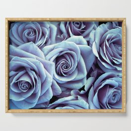Periwinkle Roses / Flowers Serving Tray