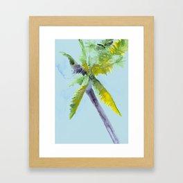 Island Palm Tree Framed Art Print