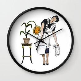Wilting Wall Clock