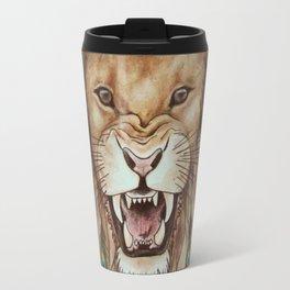 Peacock lion head Travel Mug