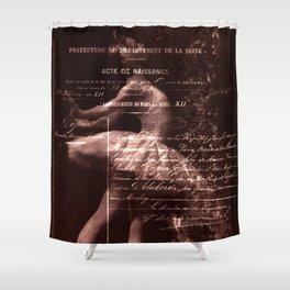 Ballerina I (brown edition) Shower Curtain