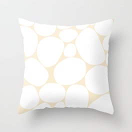 Abstraction_STONE_WHITE_PATTERN_POP_ART_033S Throw Pillow