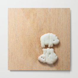 Animal Crackers - wood4 Metal Print