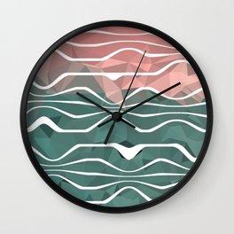 In Between #1 #society6 #art Wall Clock
