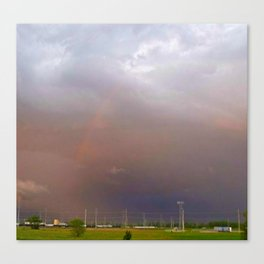 Rainbow In The Storm Canvas Print